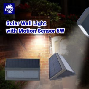Solar Wall Light with Motion 5W