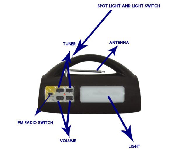 Multi Functional Solar Emergency Light