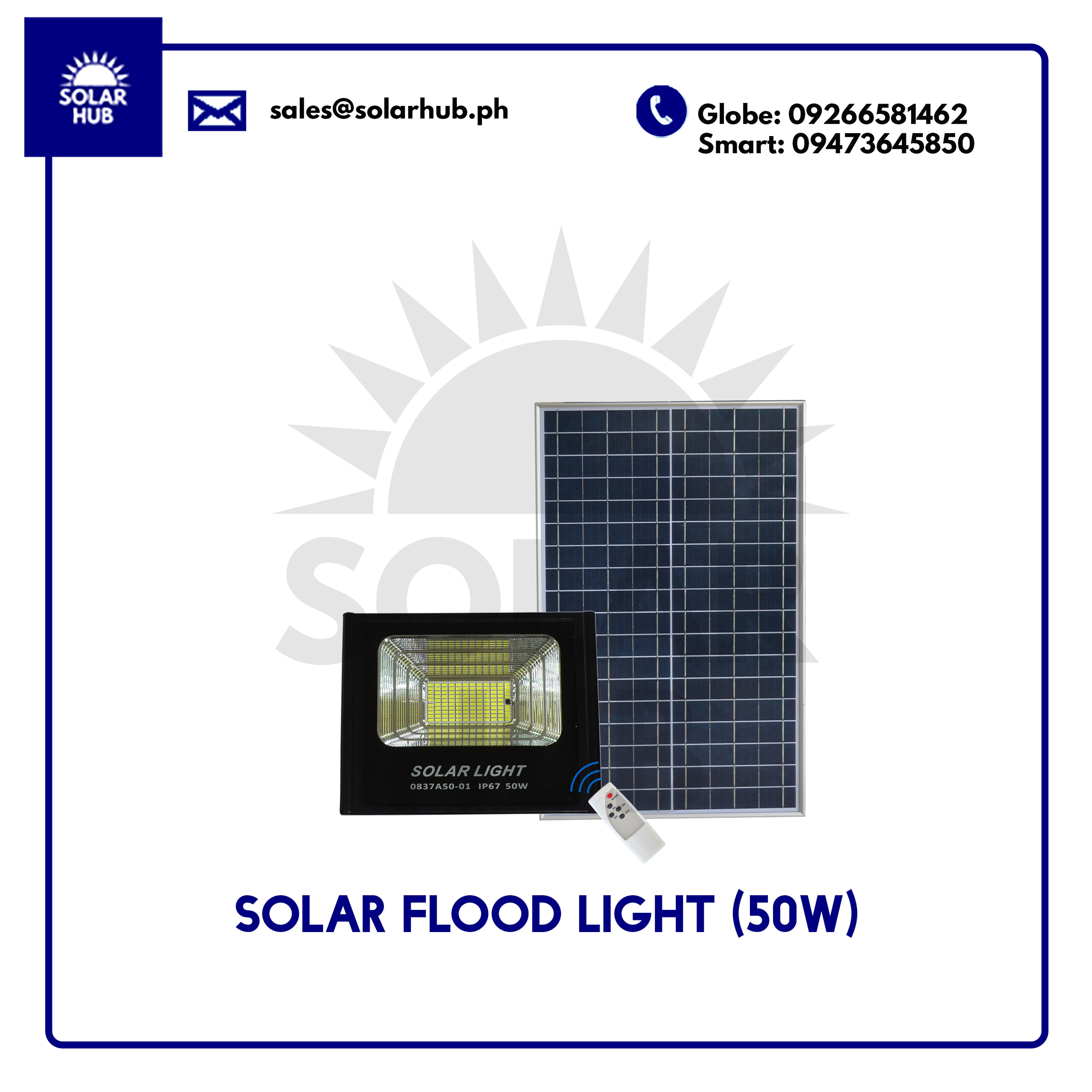 Solar Flood Light 50W