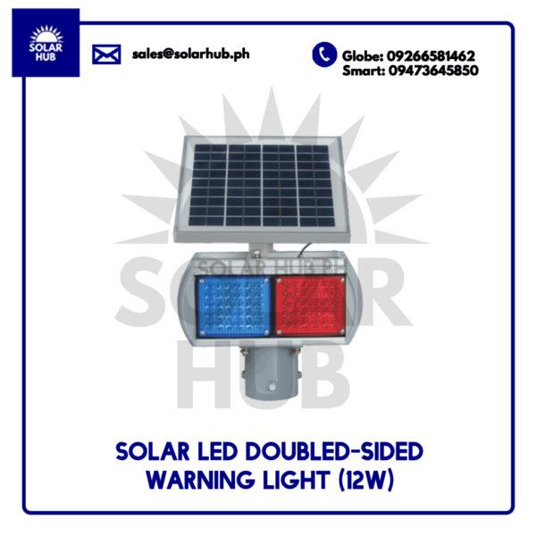 Solar LED Double-Sided Warning Light 12W