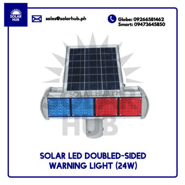 Solar LED Double-Sided Warning Light 24W
