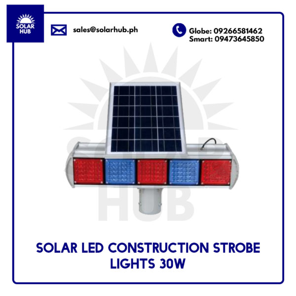 SOLAR LED CONSTRUCTION STROBE LIGHT