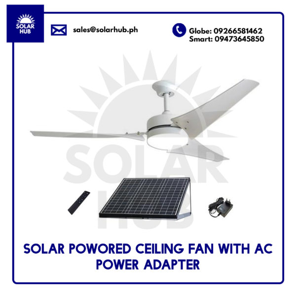 Solar Powered Ceiling Fan