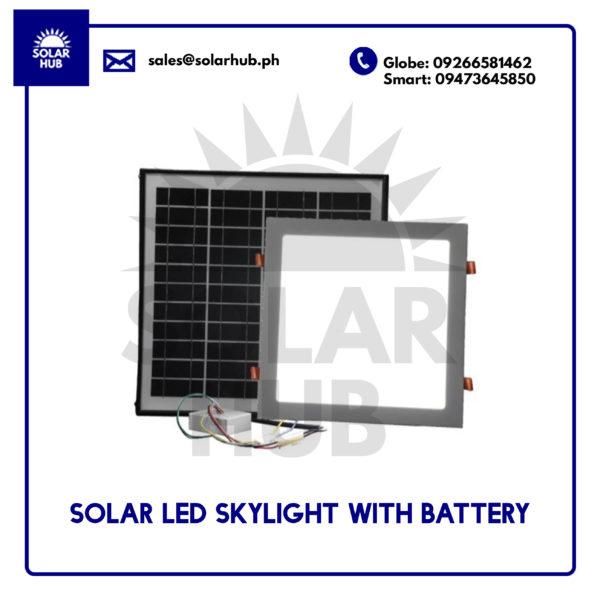 Solar LED Skylight With Battery