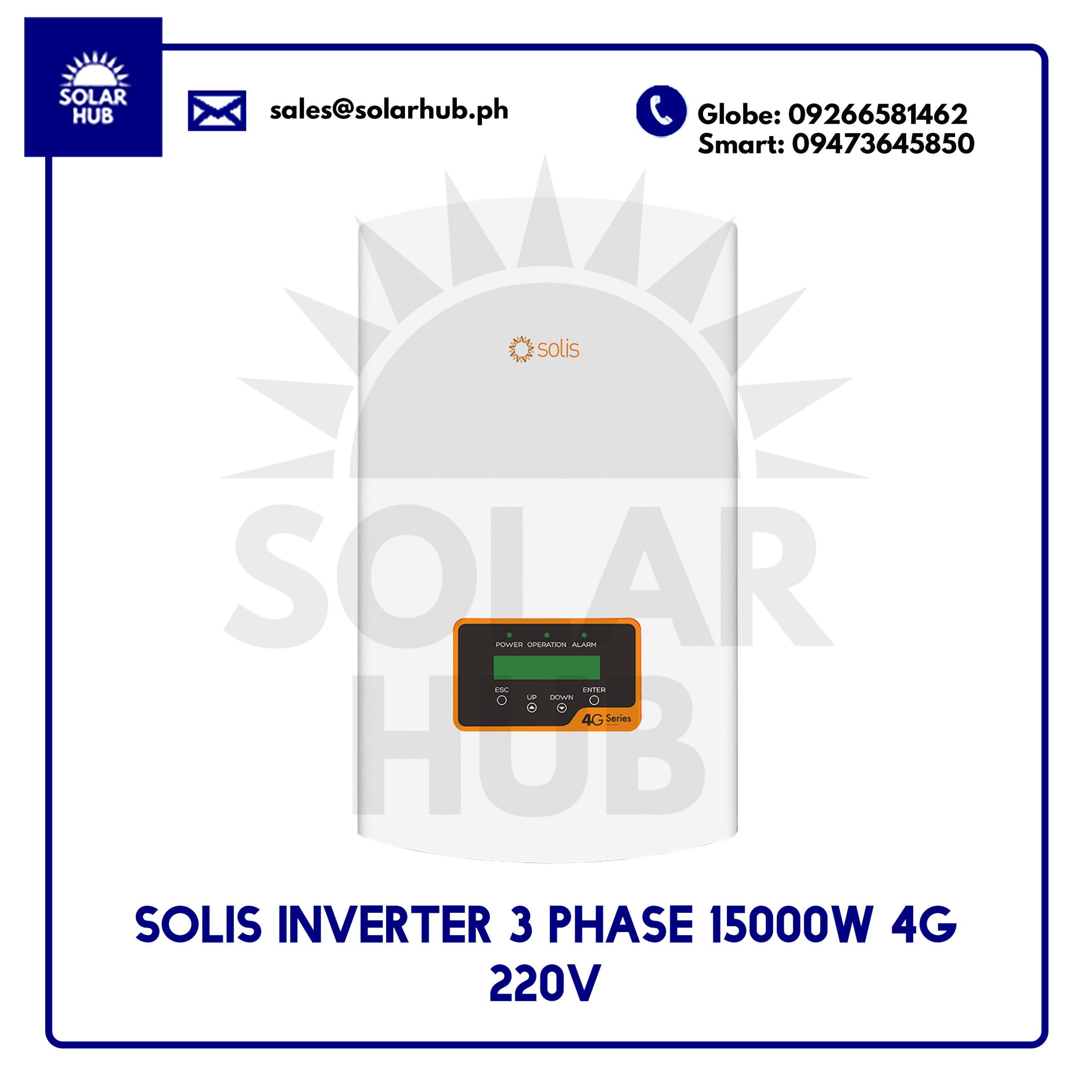 Solis Inverter 3 Phase 15000 4G