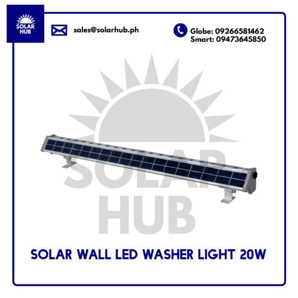 Solar Wall Led Washer Light 20w