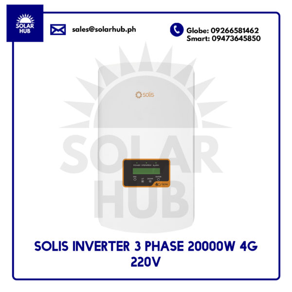 Solis Inverter 3 Phase 20000W 4G 220V