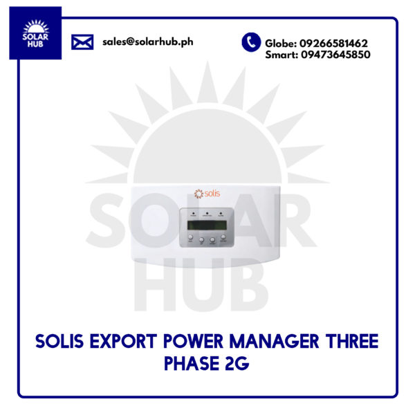 Solis Export Power 3 Phase Manager 2G