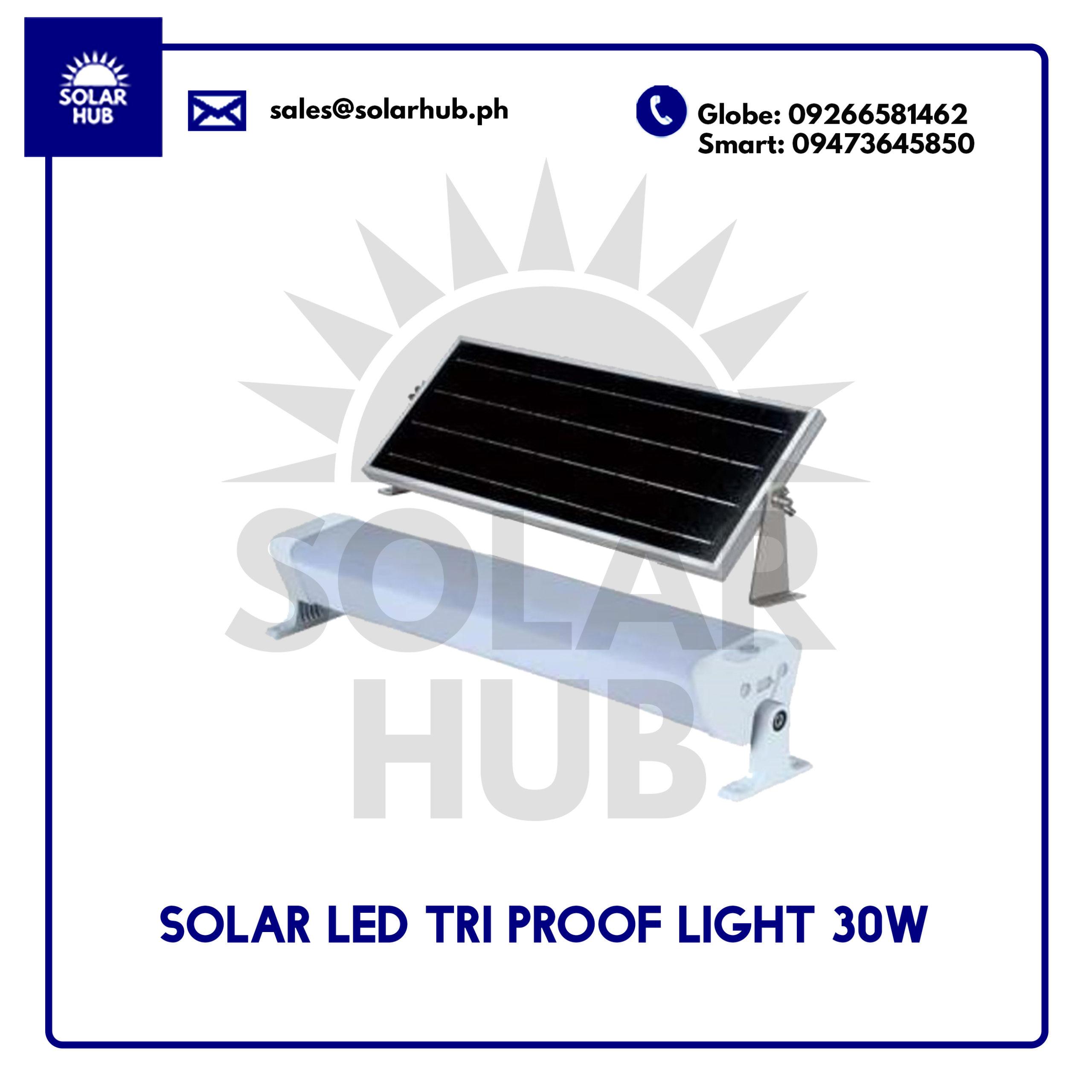 Solar LED Tri Proof Light 30W