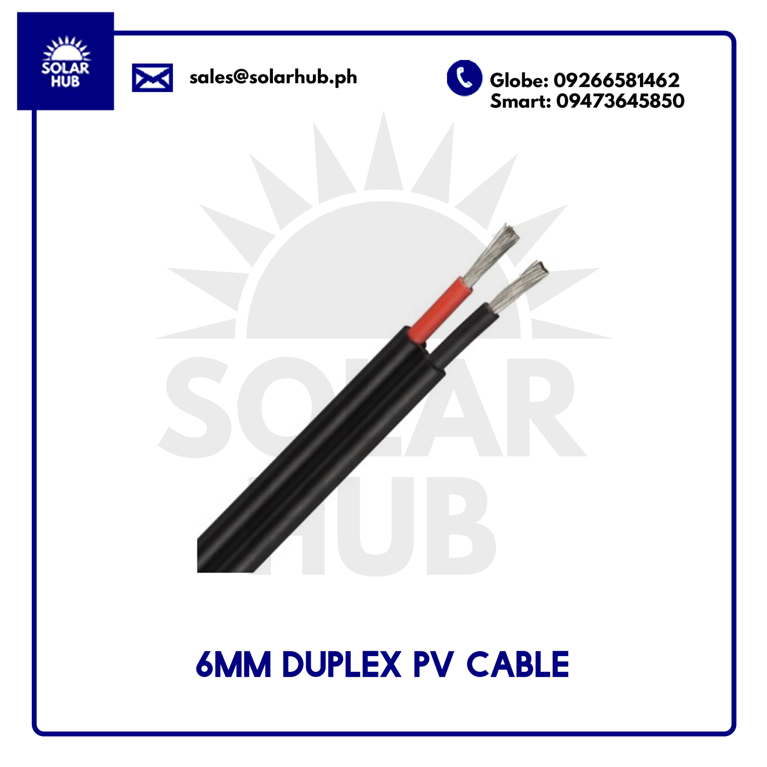 6mm duplex pv cable