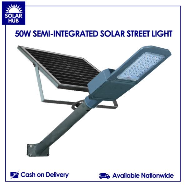 50W SEMI-INTEGRATED SOLAR STREET LIGHT